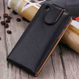 Læder cover til iPhone 6+/6s+ i sort