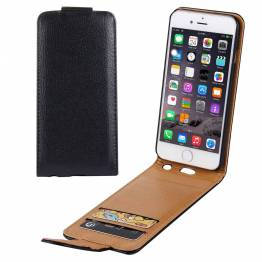 Læder cover til iPhone 6+/6s+ i sort