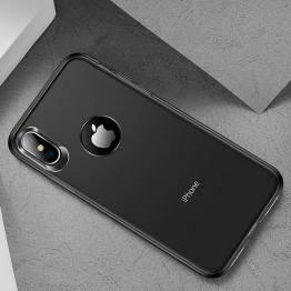 Totu tynt silikon deksel til iPhone XS Max i svart/transparent