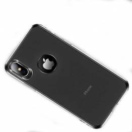Totu tyndt silikone cover til iPhone Xs Max i Sort/gennemsigtigt