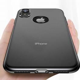 Totu tynt silikon deksel til iPhone XR i svart/transparent