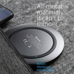 Baseus Trådløs oplader plade i stål til iPhone 7,5W Sort/Hvid