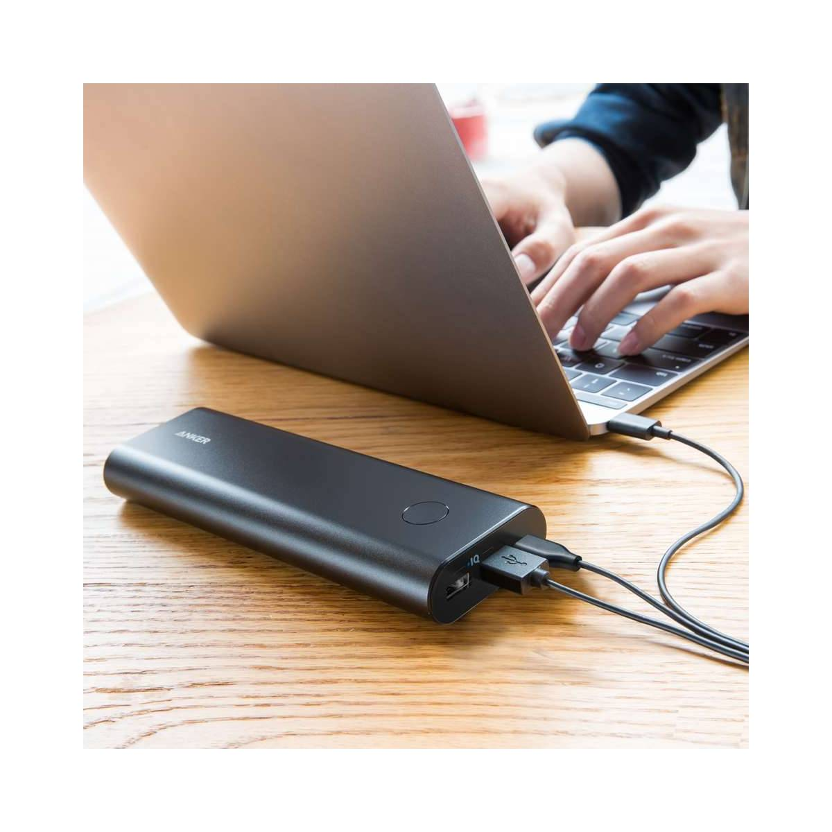 Anker PowerCore+ 20100 mAh powerbank m. USB C sort