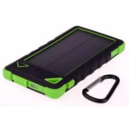 GreyLime Powerbank med solcelle 8000mAh Batteri 1,2W solcelle