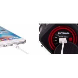 Power højtaler - Bluetooth højtaler og powerbank i en 5.200mAh