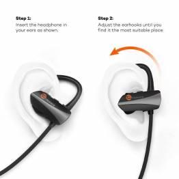 TaoTronics Bluetooth trådløs in-ear sport hodetelefoner m. henger