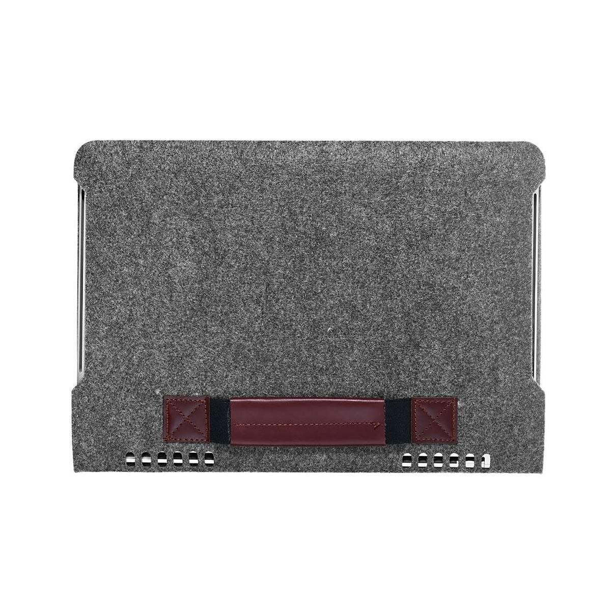 Enkel filt veske til MacBook Pro 13 mørk grå Mackabler.no