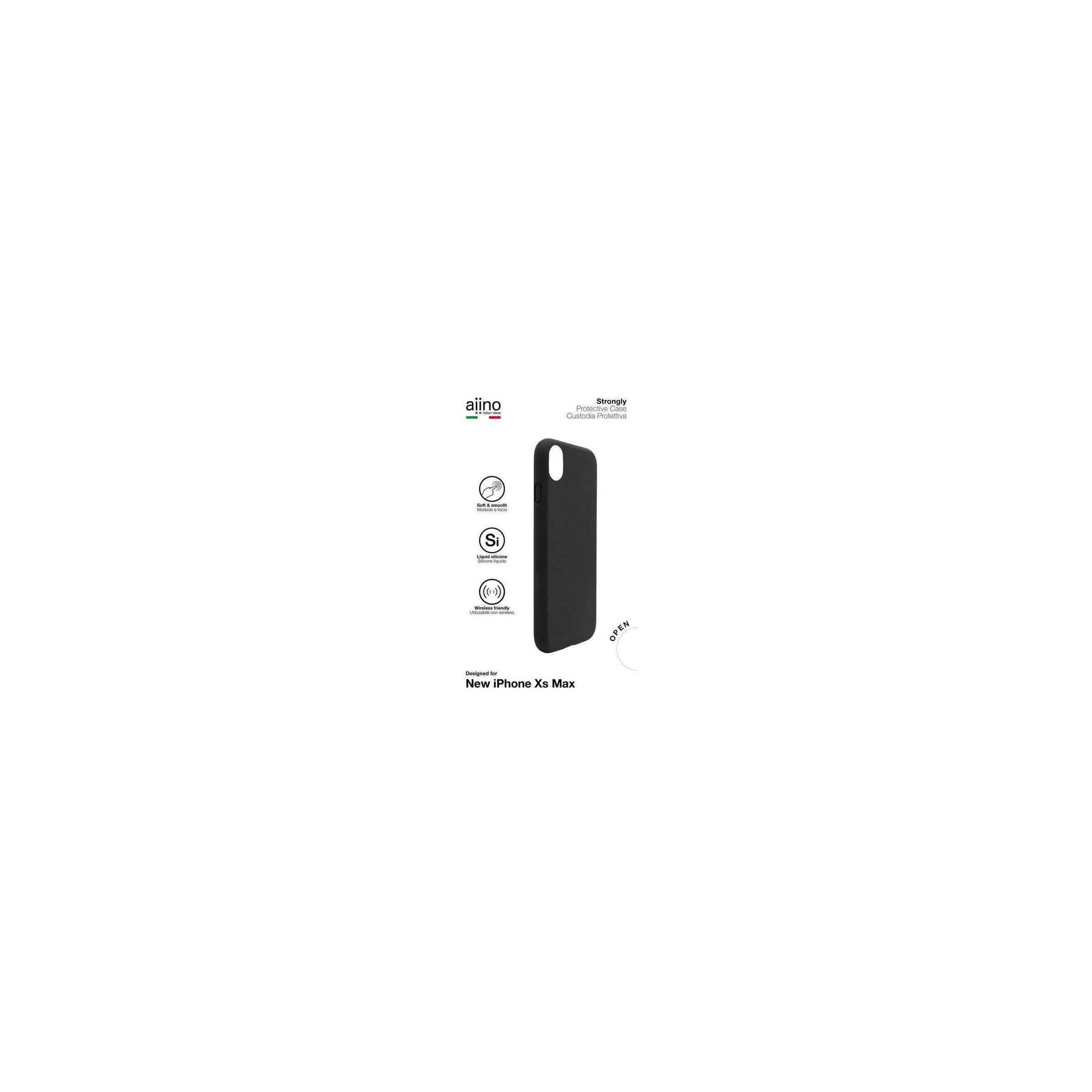 Bilde av Aiino Strongly Premium Cover Til Iphone Xs Max Sort/blå, Farve Sort