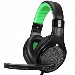 Scorpion H8323 Gaming Headset svart og grønn med mikrofon