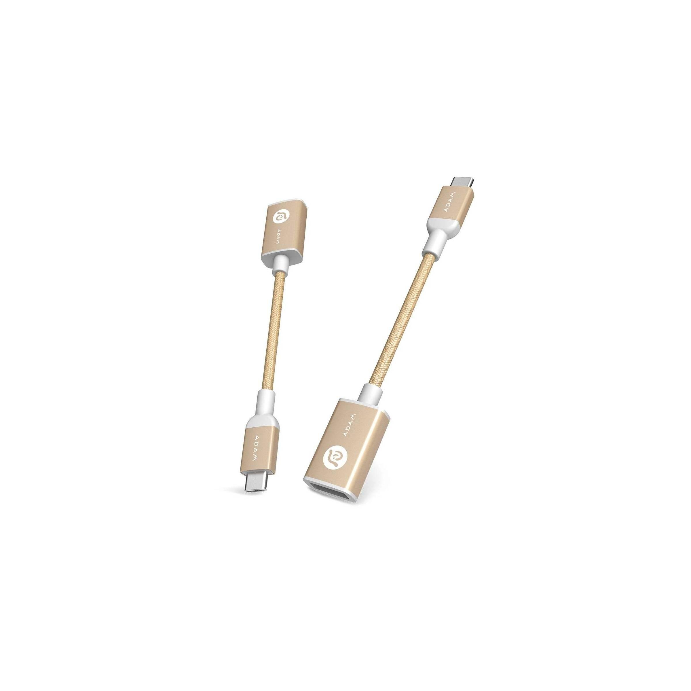 Bilde av Adam Elements Casa F13 Usb-c Til Usb-a Adapter Grå/rosegold/guld, Farve Guld