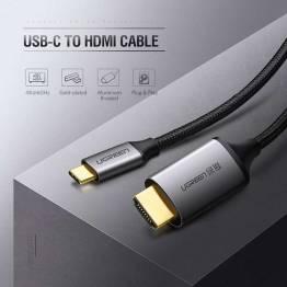 USB-C til HDMI-kabel i grått på 1, 5m Ugreen