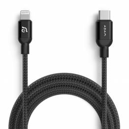 Adam Elements USB-C til lyn kabel MFi 2m svart