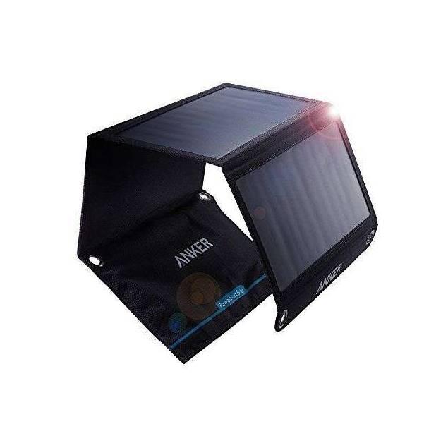 Anchor Power solcellepanel 21W 2-porter svart