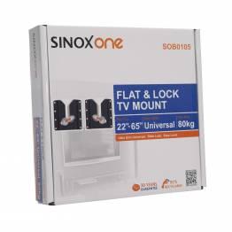 """Sinox en SOB0105 TV veggbrakett. Svart TV størrelse: 22 """"-65"""""""