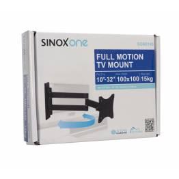 """Sinox en SOB0105 TV veggbrakett. Svart TV størrelse: 13 """"-26"""""""