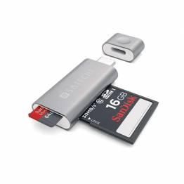Satechi USB-C Micro / SD kortlæser of aluminum