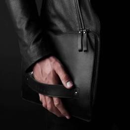 Mujjo bære-på Folio ermet for 12-tommers MacBook, svart