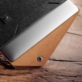 Mujjo ermet 12-Premium cover for MacBook med detaljer av ekte Lær