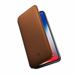 Tolv Sør SurfacePad for iPhone XS-Razor tynn nappa Leather
