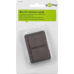 Goobay minnekort beskyttelse boks 4X SD