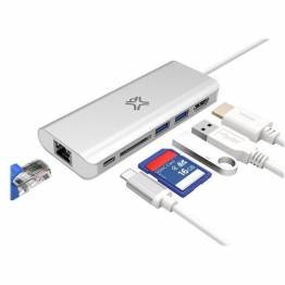Satechi USB-C-adapter for flere porter, 4K Gigabit Ethernet v2