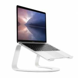 Tolv South Curve for MacBook, Vitt | Stasjonær stativ for bærbare Apple-datamaskiner