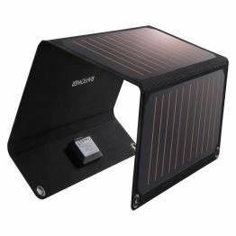 RAVPower Power solcellepanel 21W 2-porter svart