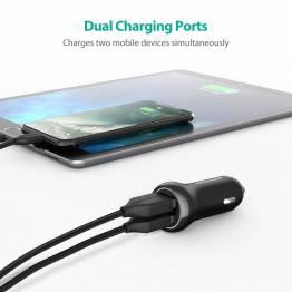 Amber Power 2x USB billader W. opptil 17W lading