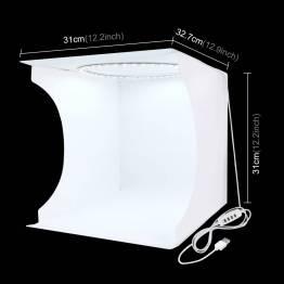 PULUZ fotoboks med 2 LED-paneler og flere rygger