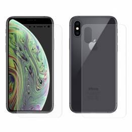 Beskyttende glass for iPhone X for og bak