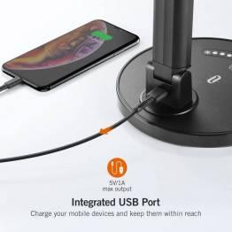 TaoTronics skrivebordslampe med USB oplader
