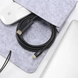USB-C til HDMI-kabel i grått på 1,8m Choetech