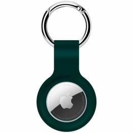 AirTag holder til nøkkelring i silikon i midnight green