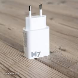 M7 iPhone/iPad USB lader USB og USB-C 20W