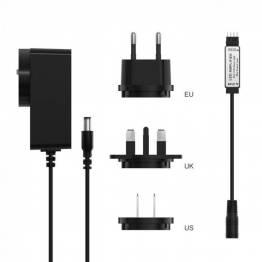 Sonoff LED strip amplifier forsterker med EU + UK + US plugg