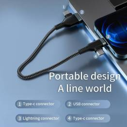 WiWU Platinum USB / USB-C for Lightning og USB-C datakabel 60W - 1,2m
