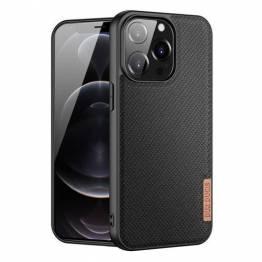 """DUX DUCIS Fino iPhone 13 Pro 6,1"""" deksel med vevd overflate - svart"""