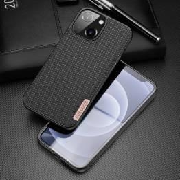 """DUX DUCIS Fino iPhone 13 6,1"""" deksel med vevd overflate - svart"""