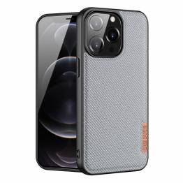 """DUX DUCIS Fino iPhone 13 Pro 6,1"""" deksel med vevd overflate - grå"""
