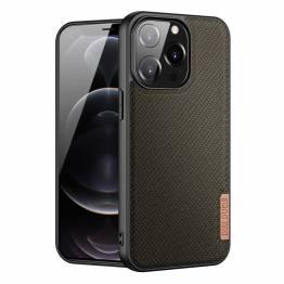 """DUX DUCIS Fino iPhone 13 Pro 6,1"""" deksel med vevd overflate - grønn"""