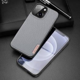 """DUX DUCIS Fino iPhone 13 6,1"""" deksel med vevd overflate - grå"""