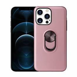 """Smart iPhone 13 Pro deksel 6.1"""" med 360° stativ og magnet - Rose Gold"""