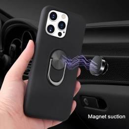 """Smart iPhone 13 Pro Max deksel 6.7"""" med 360° stativ og magnet - Blå"""