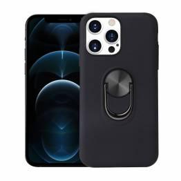 """Smart iPhone 13 Pro Max deksel 6.7"""" med 360° stativ og magnet - Svart"""