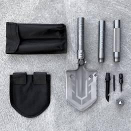 Multifunksjonell 16-i-1 brettespade med sag, kniv, skrutrekkere etc.