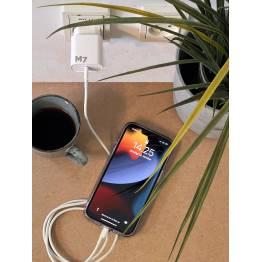 20W lader for iPhone/iPad med USB-C PD og USB-C for Lightning-kabel