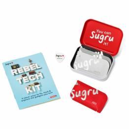 Sugru 'fix it' modelleringsvokslim - Rebel Tech Kit med hefte og 4-pak