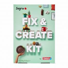 Sugru 'fix it' modelleringsvokslim - Fix & Create Kit m hefte og 4-pak