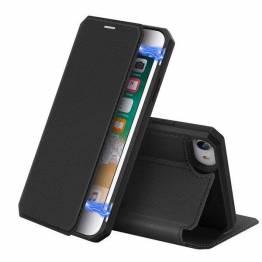 DUX DUCIS iPhone 7, 8 og SE 2020 deksel med kortspor og klaff - svart