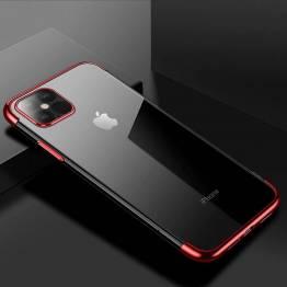 Clear Color deksel til iPhone 12 mini - rød